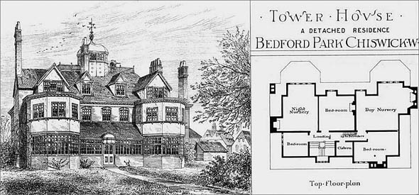 1879 &#8211; Tower House, Bedford Park, Chiswick, London