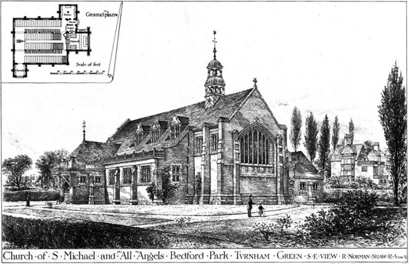 1879 – Church of St. Michael & All Angels, Bedford Park, London