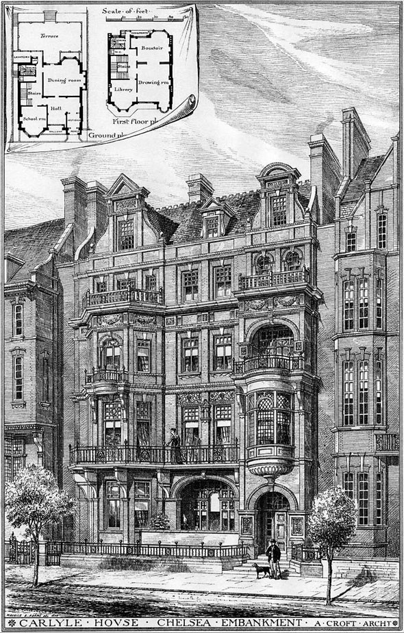 1879 – Carlyle House, Chelsea Embankment, London