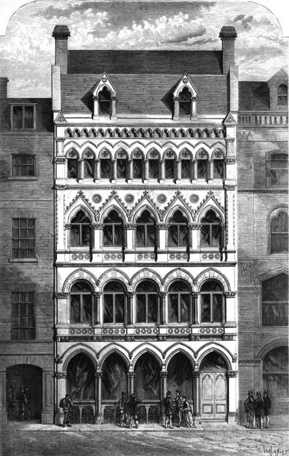 1870 – Offices, Throgmorton Street, London