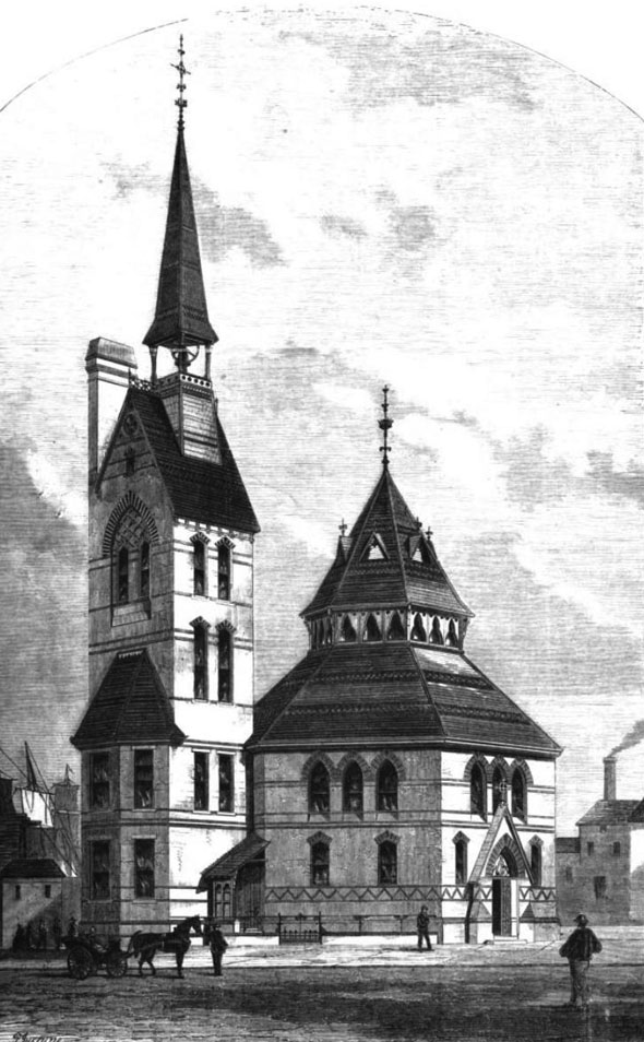 1870 – Scandinavian Church, Rotherhithe, London