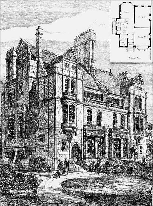 1879 – Houses, Nightingale Lane, Wandsworth, London