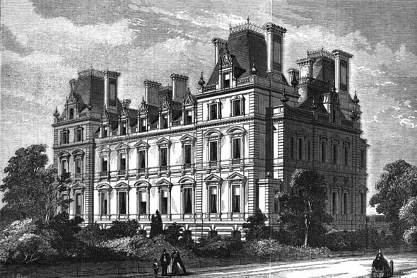 1862 – Montagu House, Whitehall, London
