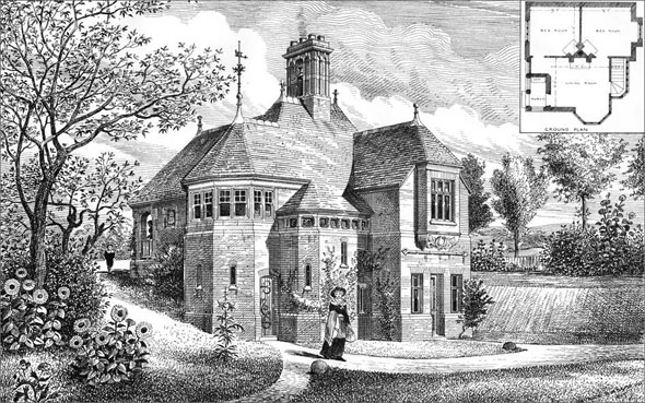 1885 &#8211; Holder&#8217;s Hill Lodge, Hendon, London