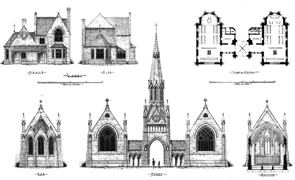1875 – Hampstead Cemetery Chapels, London