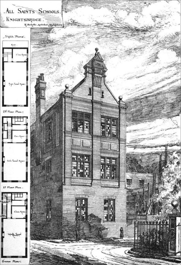 1875 &#8211; All Saints&#8217; Schools, Knightsbridge, London