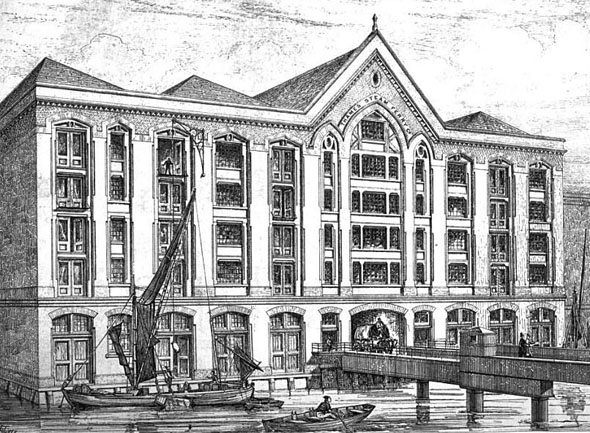 1875 &#8211; Thames Steam-Ferry Company Warehouses, London