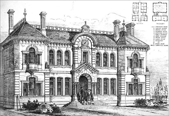 1875 &#8211; Board of Works Offices, Greenwich, London