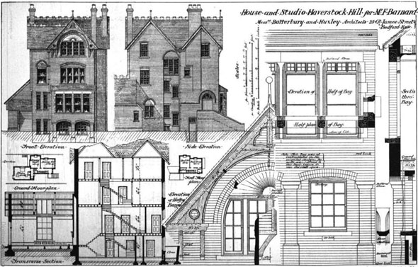 1875 &#8211; House &#038; Studio, Steele&#8217;s Road, Haverstock Hill, London