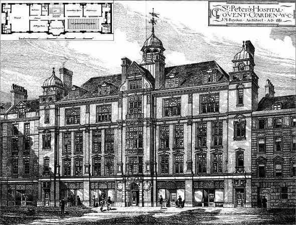1881 &#8211; St. Peters Hospital, Covent Garden, London