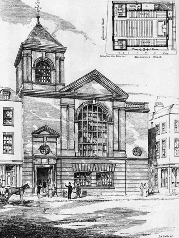 1881 – Memorial Wesleyan Chapel, Commercial Road, London
