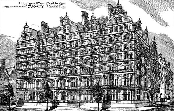 1884 – The Savoy Hotel, Strand, London