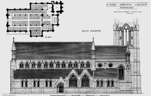 1881 &#8211; St. Mary Abbots Church, Kensington, London