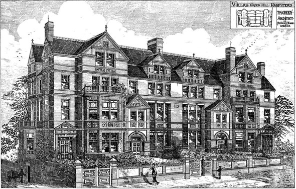 1879 &#8211; Villas, Green Hill, Hampstead, London