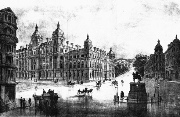 1886 &#8211; Charing Cross Scheme for Admiralty &#038; War Offices, London