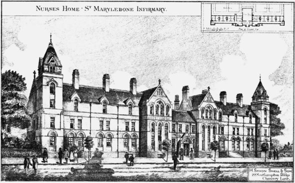 1886 &#8211; Nurses Home, St. Marylebone Infirmary, London