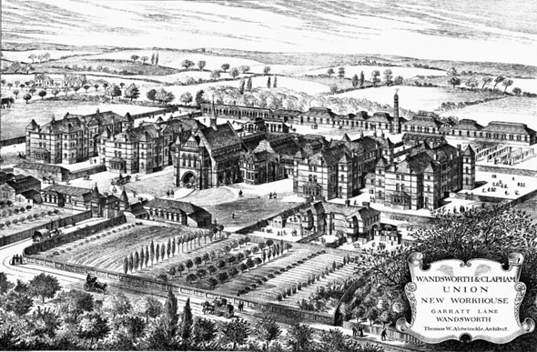 1886 – Workhouse, Garratt Lane, Wandsworth, London