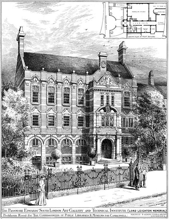 1896 &#8211; Lord Leighton Memorial, Camberwell, London