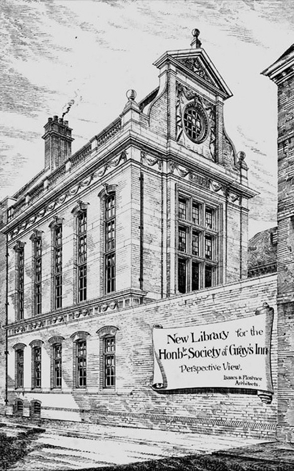 1884 &#8211; New Library for the Hon. Society of Gray&#8217;s Inn, London