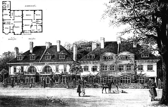 1899 &#8211; Houses at Hampstead, London