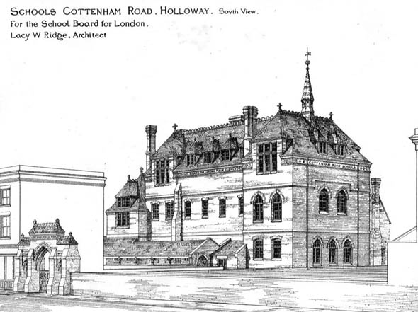 1873 – Schools, Cottenham Road, Holloway, London