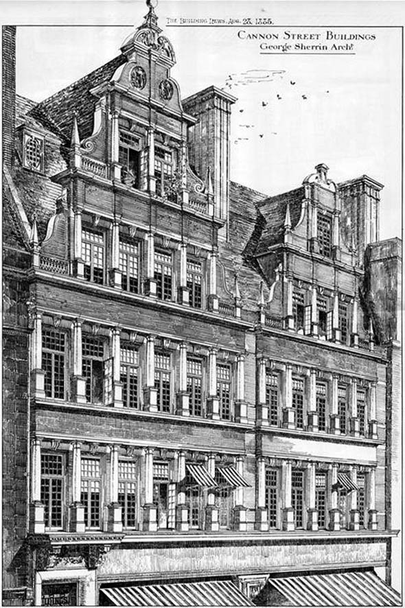 1885 &#8211; Cannon Street Buildings, London