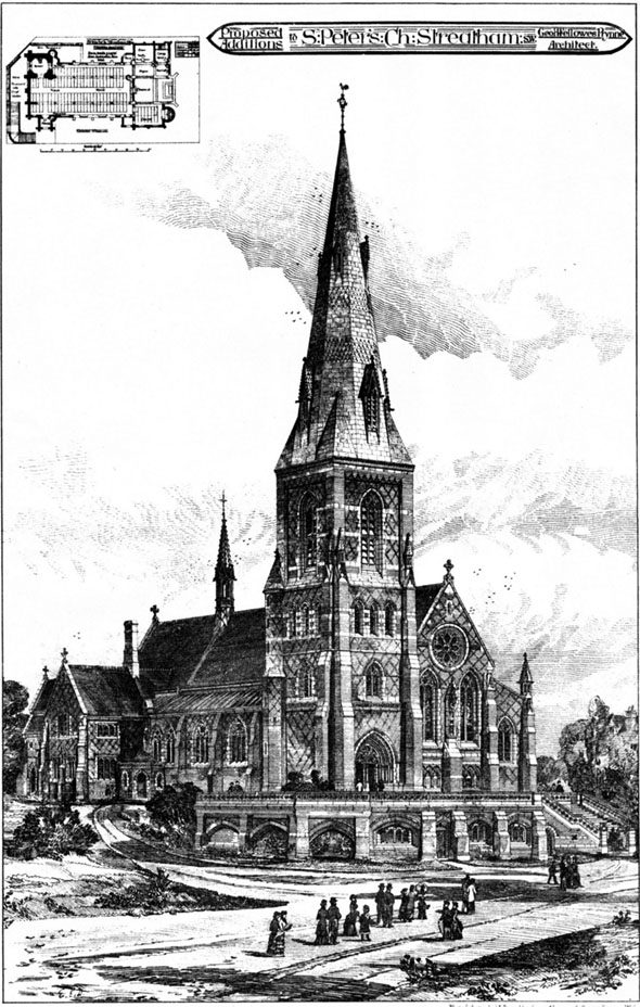1883 – St. Peter's Church, Streatham, London