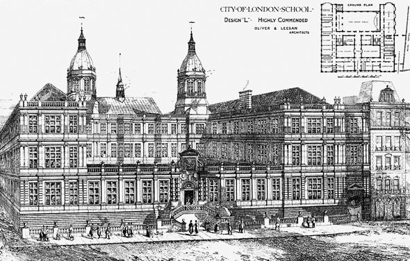1879 – Design for City of London School