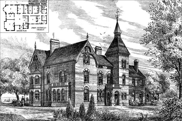 1877 – Ricards Lodge, Wimbledon Park, London