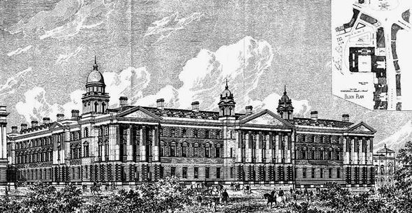 1888 &#8211; The Admiralty Extension, Whitehall, London