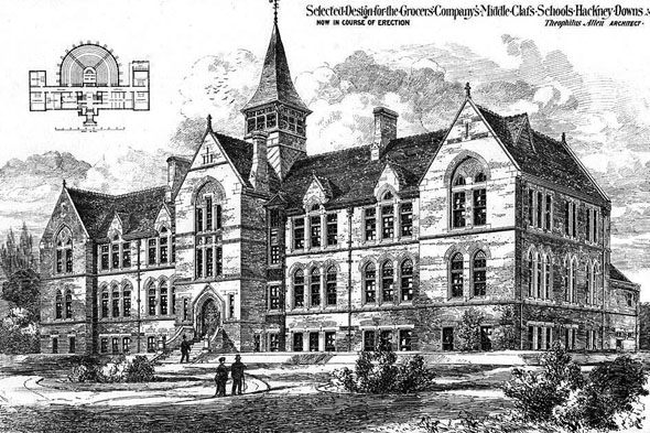1876 &#8211; Middle Class Schools for the Grocers Company, Hackney, London