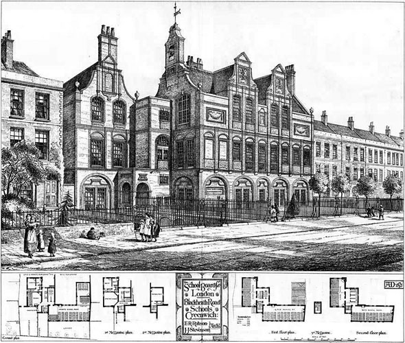 1875 &#8211; Blackheath Road Schools, Greenwich, London