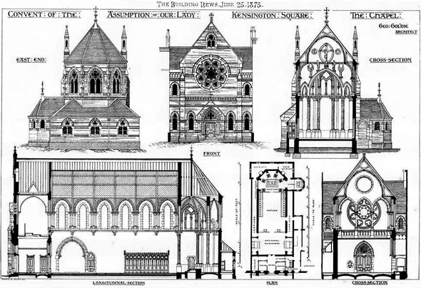 1875 – Convent of the Assumption, Kensington Square, London