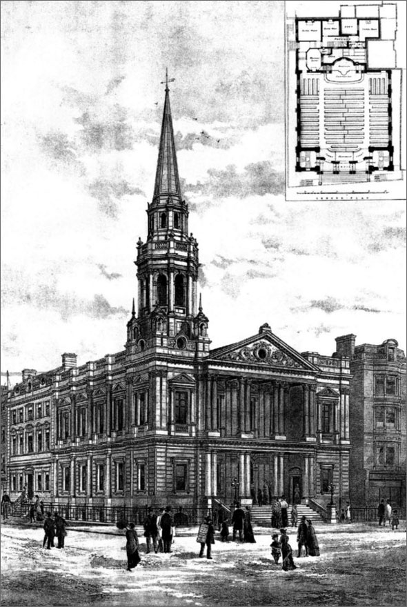 1887 – Hinde Street Wesleyan Chapel, London