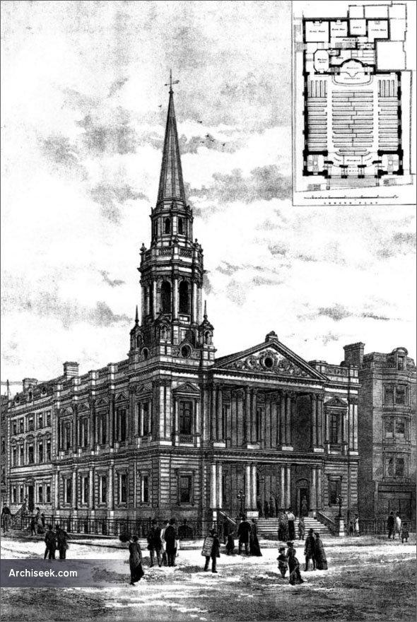 1887 – Hinde Street Wesleyan Chapel, London