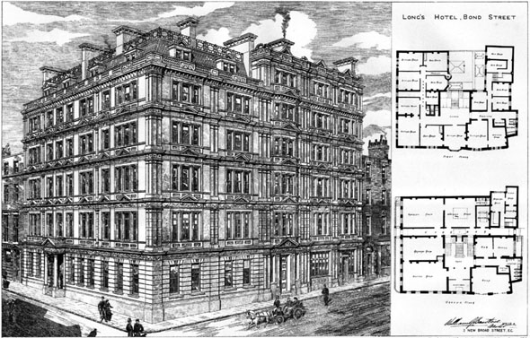 1887 – Longs Hotel, Bond Street, London