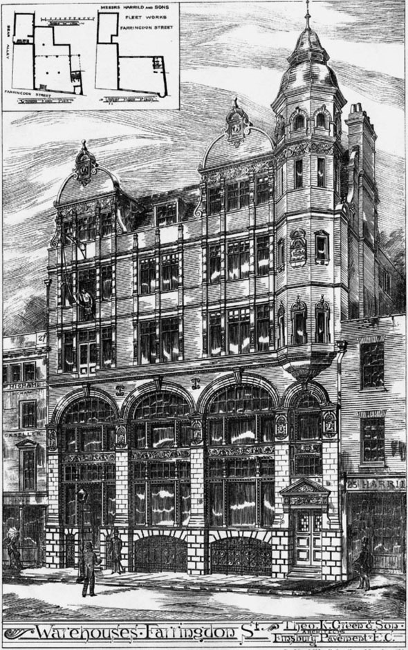 1886 – Warehouses, Farringdon Street, London