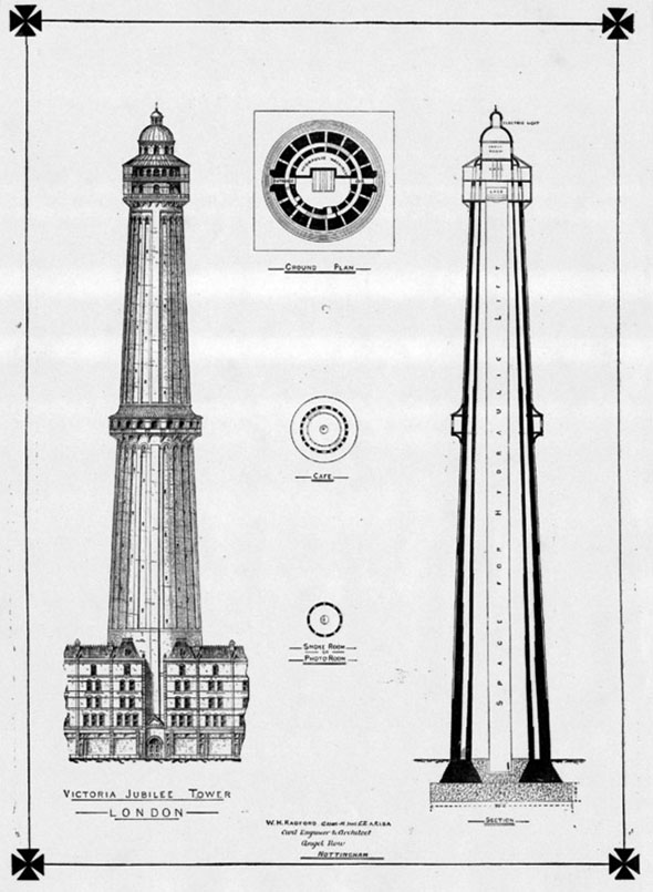 1886 –  Victoria Jubilee Tower, London