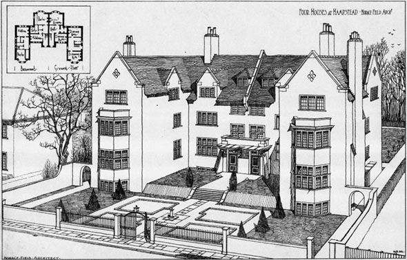 1902 – Four Houses at Hampstead, London