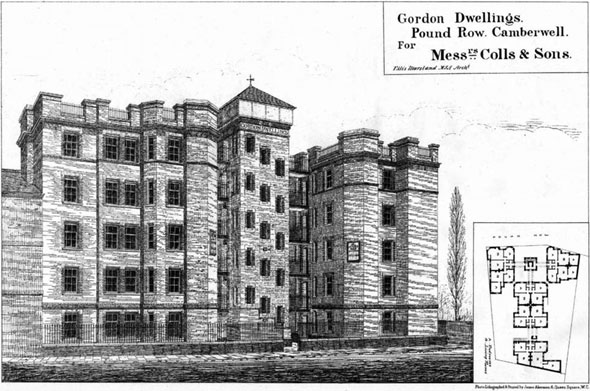 1887 – Gordon Dwellings, Camberwell, London