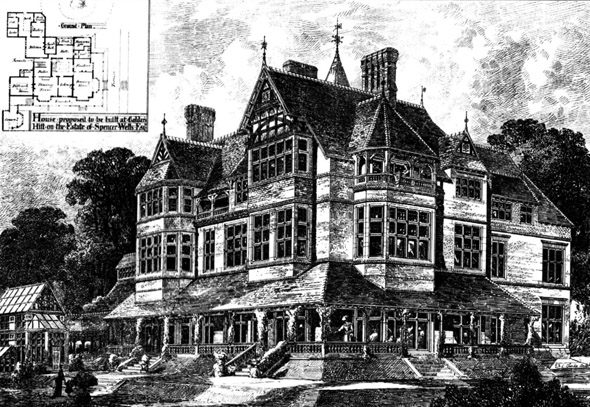 1875 &#8211; Proposed House at Golders Hill, London
