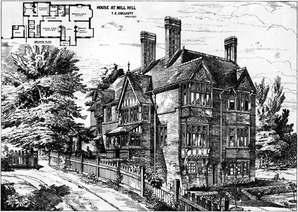 1875 &#8211; House at Mill Hill, London