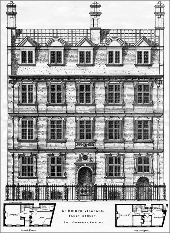 1886 – St. Brides Vicarage, Fleet Street, London