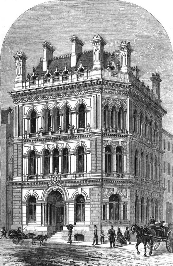 1863 – National Provident Institution, Gracechurch St., London