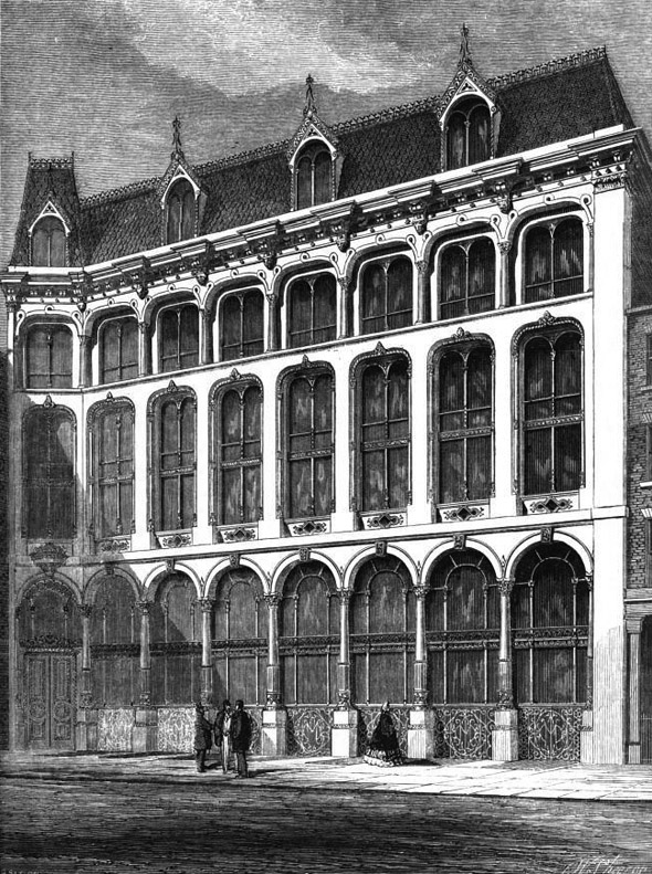 1863 – Warehouse, Bow Churchyard, London