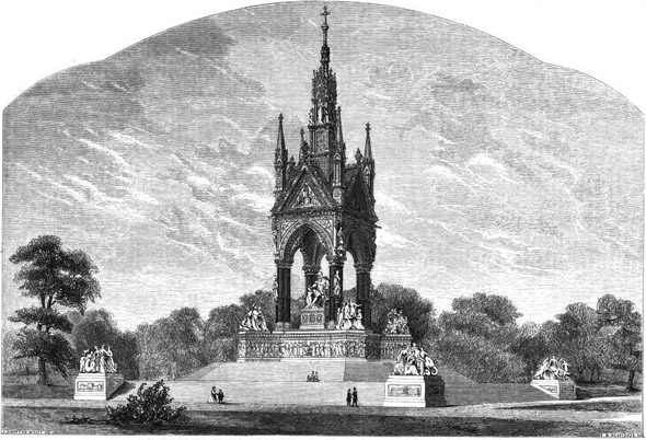 1863 &#8211; National Albert Memorial, Kensington, London