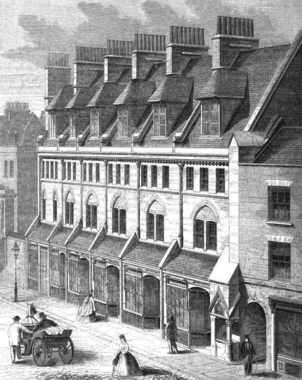 1863 &#8211; Houses, Worship Street, Finsbury, London
