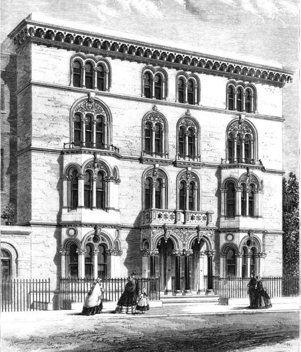 1863 &#8211; Houses, Guy&#8217;s Hospital, Southwark, London