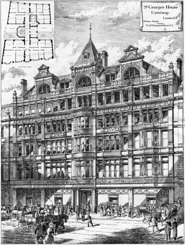 1886 – St. Georges House, Eastcheap, London