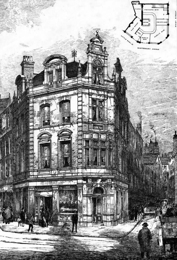 1886 – The Marquis of Granby, Shaftesbury Avenue, London